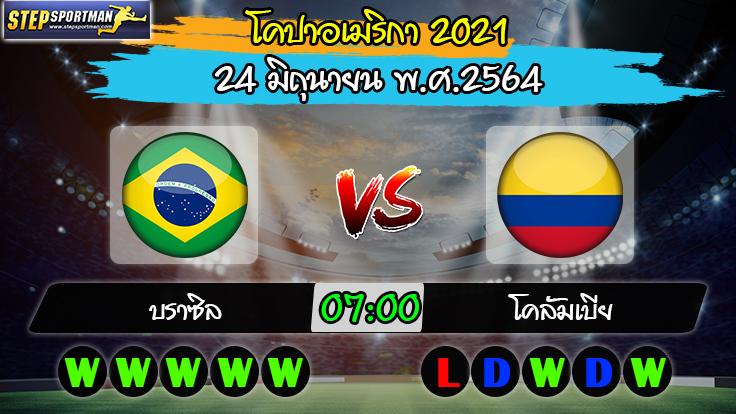 วิเคราะห์บอล [ โคปาอเมริกา 2021 ] บราซิล VS โคลัมเบีย (24/06/64)